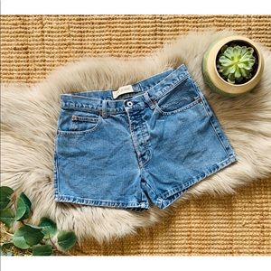 Vtg High Waisted Jean Shorts